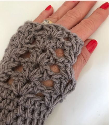 Fabulous Taupe Pure Wool Wristwarmers/Fingerless gloves