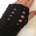 Fabulous Black Pure Wool Wristwarmers/Fingerless gloves