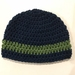 Gorgeous Pure Wool Baby Beanie - Navy /Blue/Green