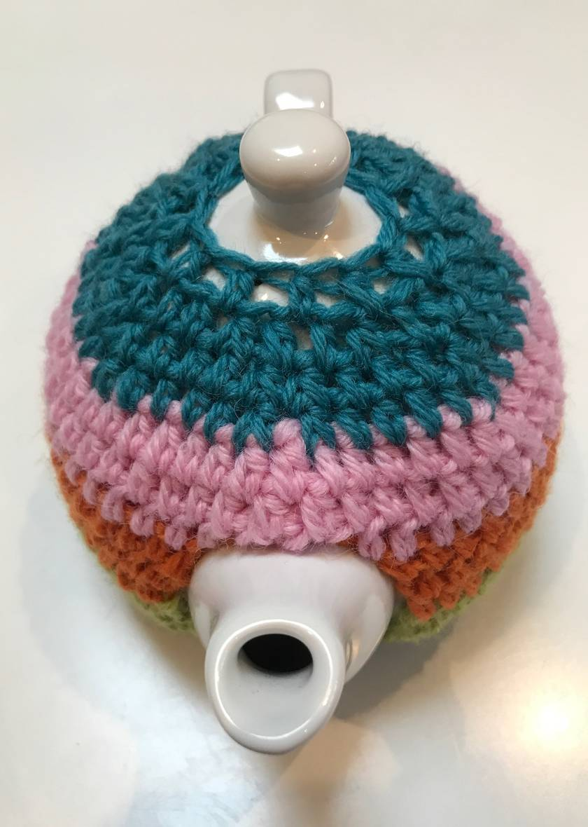 Fabulous Striped Tea Cosy with FREE Teapot!!