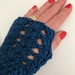 Fabulous Teal Blue Pure Wool Wristwarmers/Fingerless gloves