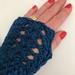 Fabulous Teal Blue Pure Wool Wristwarmers/Fingerless gloves