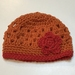 Orange and Red Pure Wool Baby Hat