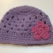 Mauve and Pink Pure Wool Baby Hat