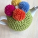 Gorgeous Lime Green Pom Pom Tea Cosy with FREE Teapot!!