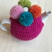 Gorgeous Cerise Pink Pom Pom Tea Cosy with FREE Teapot!!