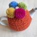 Gorgeous Orange Pom Pom Tea Cosy with FREE Teapot!!