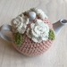 Gorgeous Pastel Apricot with White Roses Tea Cosy with FREE Teapot!!