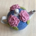 Gorgeous Blue with Pink Roses Tea Cosy with FREE Teapot!!