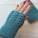 Fabulous Turquoise Pure Wool Wristwarmers/Fingerless Gloves