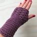 Fabulous Mauve Pure Wool Wristwarmers/Fingerless Gloves