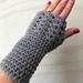 Fabulous Grey Pure Wool Wristwarmers/Fingerless Gloves