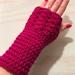 Fabulous Deep Raspberry Pure Wool Wristwarmers/Fingerless Gloves