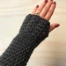 Fabulous Gunmetal Grey Pure Wool Wristwarmers/Fingerless Gloves