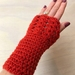 Fabulous Orange/Rust Pure Wool Wristwarmers/Fingerless Gloves
