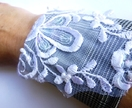 Upcycled fabric cuff - fabric fashion - medium