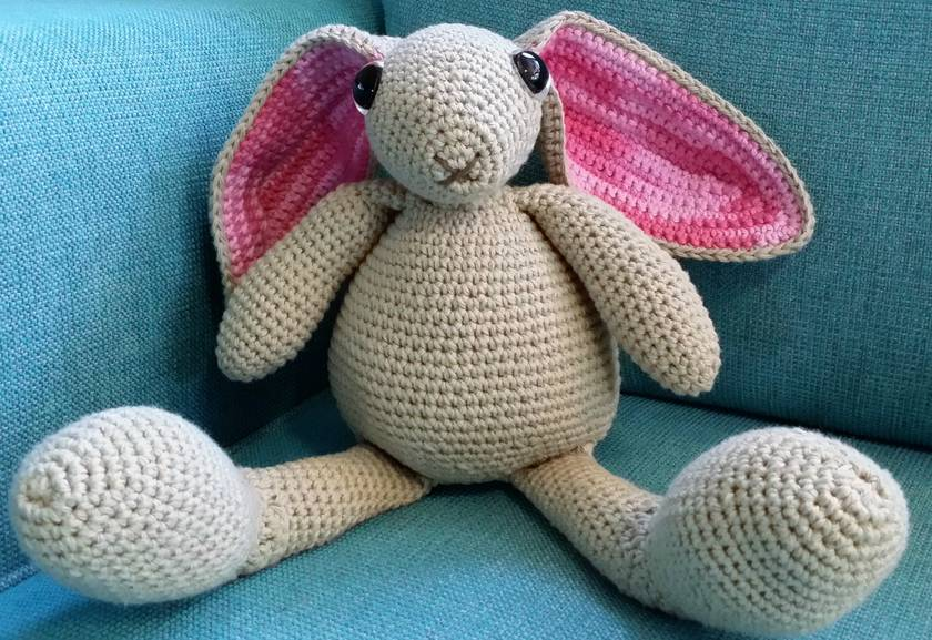 Hand Crocheted Roger Rabbit