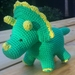 Hand Crocheted Dylan the Dinosaur