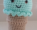 Hand Crocheted Minty the Ice Cream Rattle