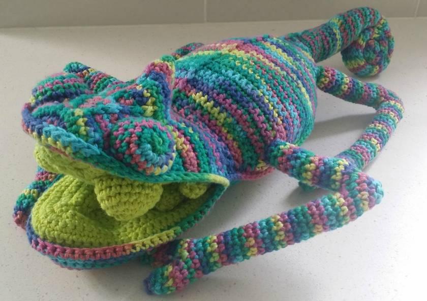 Hand Crocheted Karl The Chameleon Felt