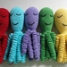 Hand Crocheted Sleeping Octopus for Preemies
