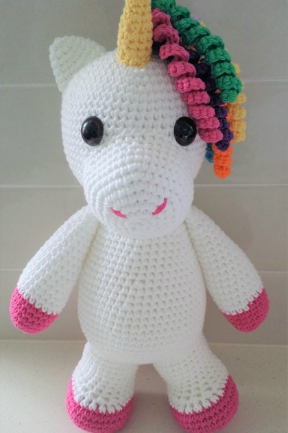Hand Crocheted Eunice the Unicorn