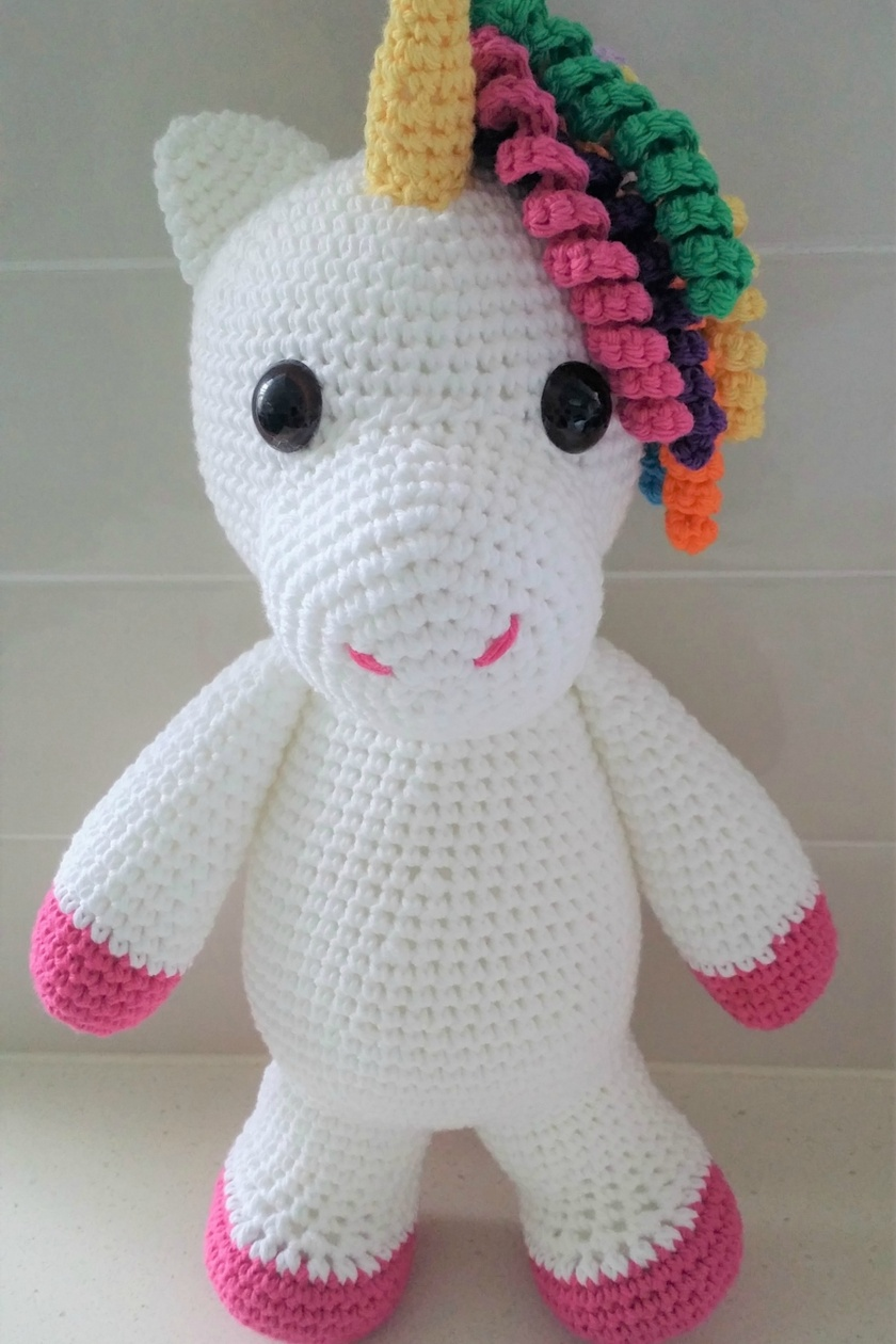 Hand Crocheted Eunice the Unicorn