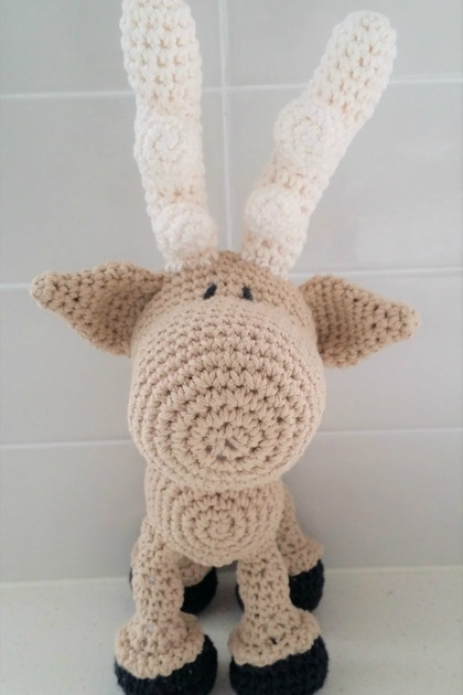 Hand Crocheted Merlin the Moose