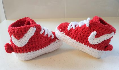 Hand Crocheted Sneaker Booties