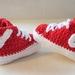 Hand Crocheted Sneaker Booties