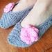 Hand Crocheted Adult Ballerina Slippers