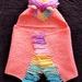 Hand Crocheted Hooded Unicorn Baby Blanket