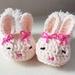 Hand Crocheted Bunny Booties
