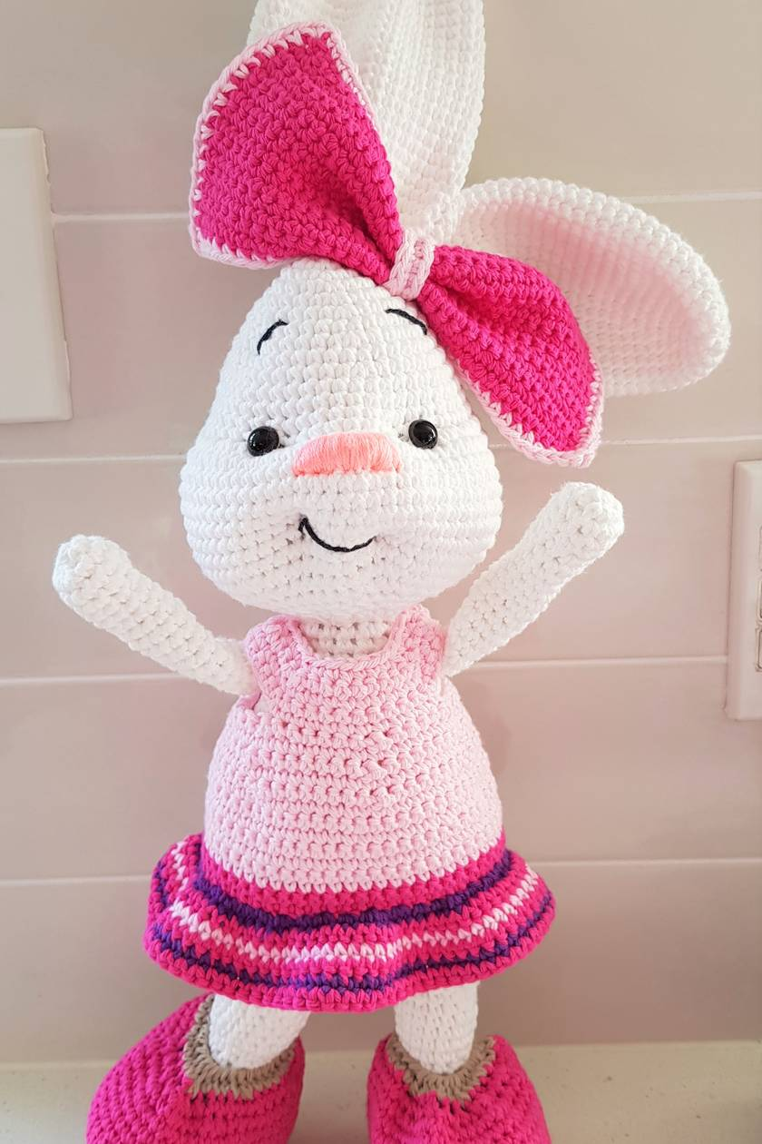 Hand Crocheted Belle the Bunny