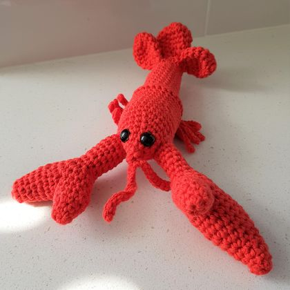 Hand Crocheted Louis The Lobster