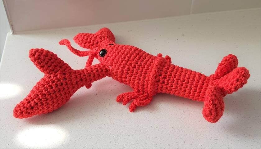 Hand Crocheted Louis The Lobster Felt