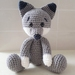 Hand Crocheted Jacob the Wolf