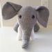 Hand Crocheted Eddy the Elephant