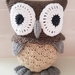 Hand Crocheted Ollie the Owl
