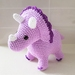Hand Crocheted Trixie the Triceratops