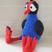 Hand Crocheted Poppy the Pukeko