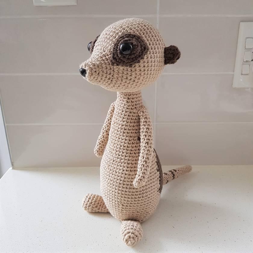 Hand Crocheted Mia the Meerkat