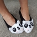 Hand Crocheted Panda Slippers