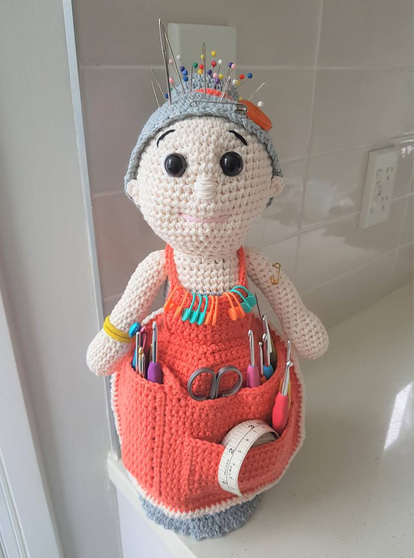 Hand Crocheted Crafter Granny