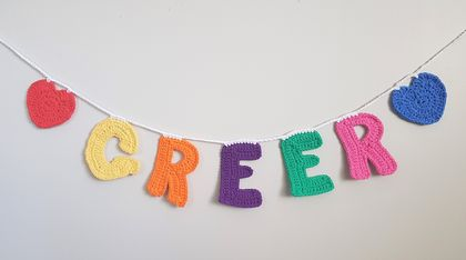Hand Crocheted Name Bunting