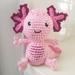 Hand Crocheted Ava the Axolotl