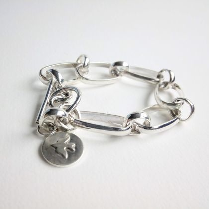 Sterling Silver Long Short Bracelet