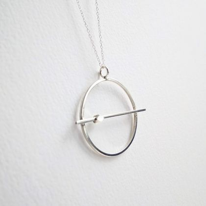 Sterling Silver Orbit Necklace