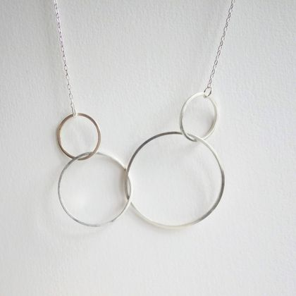 Sterling Silver Four Loops Necklace
