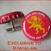 Cuff Links from Beer Bottle Tops Featuring Lion Red
